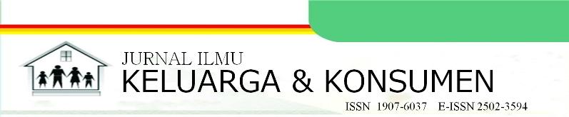 JURNAL ILMU KELUARGA & KONSUMEN