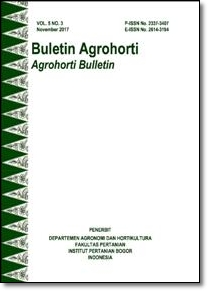 Vol 5, No 3 (2017): Buletin Agrohorti